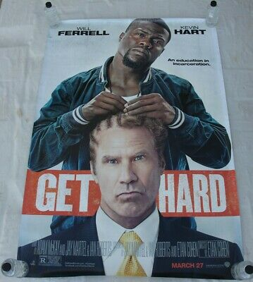 GET HARD Will Ferrell Kevin Hart BUS SHELTER MOVIE POSTER 4'x6'