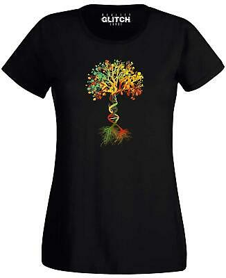 Tree of Life Womens T-Shirt DNA Genetic Code Biology Earth Nature Science
