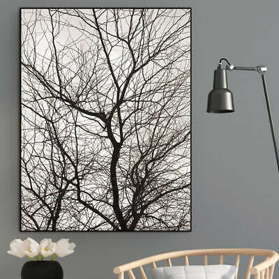 Nordic trees wall art canvas painting prints winter decor paintings Scandinavian