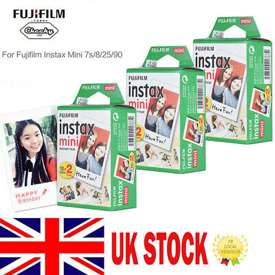 20-800 Sheets Fujifilm Instax Mini Film For Fujifilm Instax Mini 7s 8 25 90 9 UK