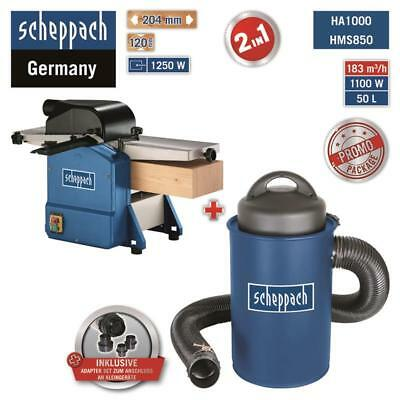 Scheppach Système D'Extraction HA1000 Inkl.adapter-set + Trancheuse HMS850 204mm
