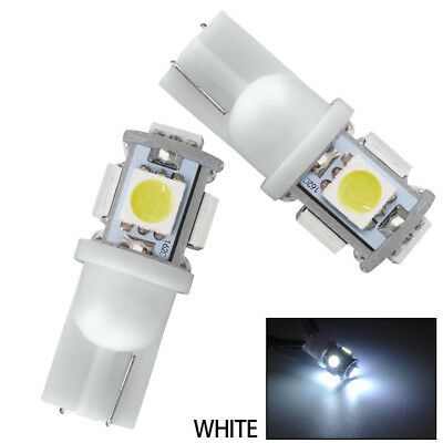 10PCS T10 5050 W5W 501 LED Bulb Car Interior Light Side Lamp Wedge Pure White