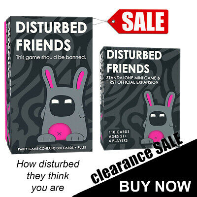Disturbed Friends Main Set Base Game | First Official Expansion Packs