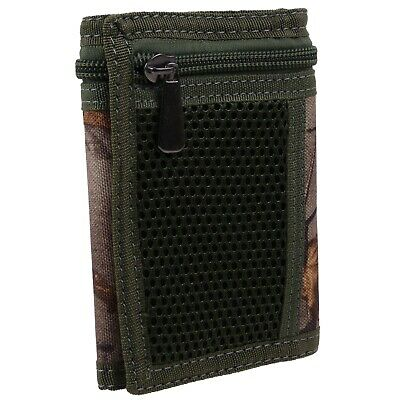 Forest Camouflage Mens Boys Teens Kids Tri-Fold Canvas Wallet Cards
