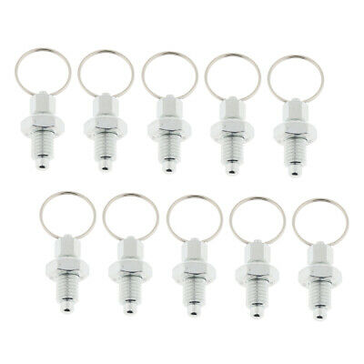 10x M10 Index Plunger with Ring Pull Spring Loaded Retractable Locking Pin
