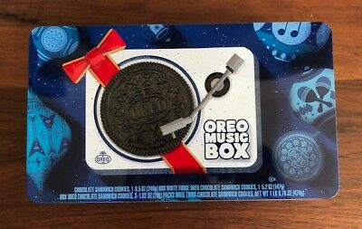 Oreo Music Box Cookie Record Player Collectible Holiday Christmas