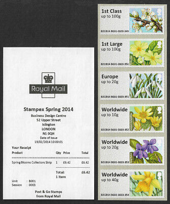 GB 2014 Spring Blooms u/m mnh stamps 1st class - Worldwide up to 40g ex. Stampex