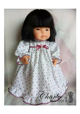 38cm Miniland doll pyjama dress with matching panties(MADE IN PERTH)