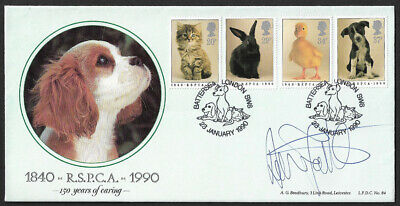 GB 1990 150th Anniversary of The RSPCA Bradbury First Day Cover signed