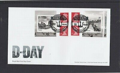 GB 2019 D Day retail stamp booklet Royal Mail FDC Neptune Road Barry special pmk