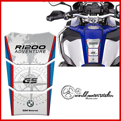 BMW moto MONDO world #01 ROSSO stickers Adesivo R 1200 GS ADVENTURE