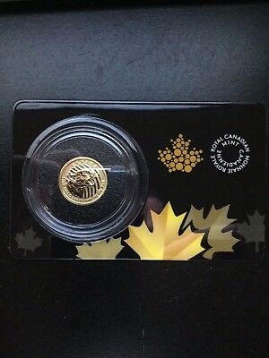 2015 1/10 oz Gold Canadian Cougar in Capsule W/ Essay Card Only 10,000 Mintage