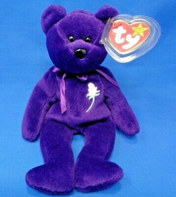 "Original 1997 Retired TY Beanie Baby /""Princess/"" the Bear Very Collectible *"