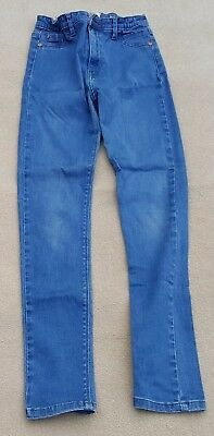 RIVER ISLAND Girls Blue Jeggings Stretchy Jeans Pants 99% Cotton 12 Years
