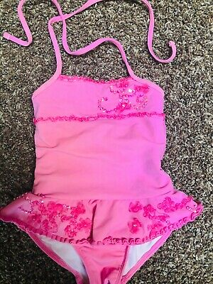72e20d0904054 Girls KATE MACK Ballet Pink Toddler Swimsuit Ruffle Skirt One Piece 18/24m  2/