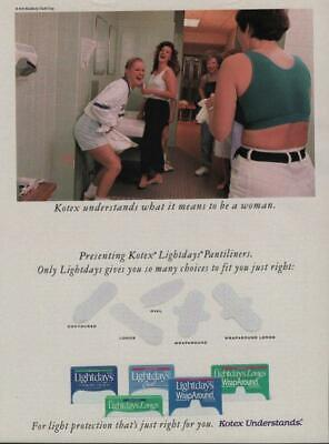 1992 Kotex Maxi Pads Magazine Ad Page Bride Bridesmaids Friends Veil Shopping
