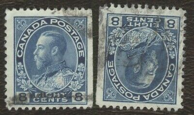 Stamps Canada # 115, 8¢, 1925, lot of 2 used stamps.