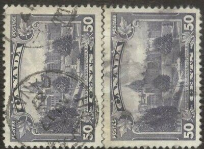 Stamps Canada # 226, 50¢, 1935, lot of 2 used stamps.