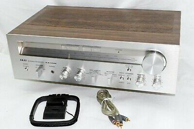 AKAI AA-1135 Stereo Receiver 35 Watts per Channel - Plus Cables - Pots Cleaned