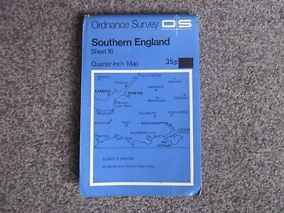 Southern England   -  Ordnance Survey Quarter-Inch Map . Sheet 16  .  (2)