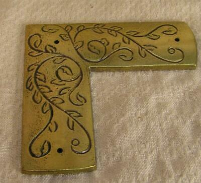 4 Vintage Brass Decorative Embellishments Furniture Hardware Parts and Pieces