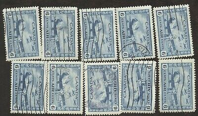 Stamps Canada # C7, 6¢, 1938, lot of 10 used stamps.