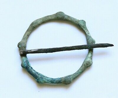 AUTHENTIC MEDIEVAL VIKING ERA BRONZE BROOCH- 8th-10th cent. A.D.