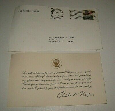 President Richard Nixon Correspondence Reply About Peace in Vietnam #BA6