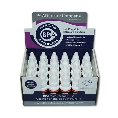 1 x BPA Piercing Aftercare Solution Natural Ear Stretching Healing 10ml
