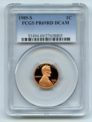 1989 S 1C Lincoln Cent Proof PCGS PR69DCAM