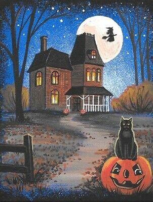 1.5x2 DOLLHOUSE MINIATURE PRINT OF PAINTING RYTA 1:12 SCALE HALLOWEEN LENORE POE