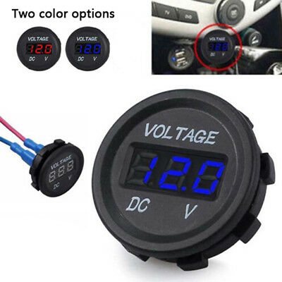 5-48V car marine motorcycle led digital voltmeter voltage meter battery gaug AS