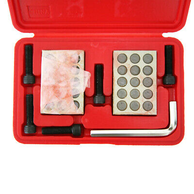 """1-2-3 Precision 23 Hole Block Set With 3/8""""-16 Socket Head Cap Screws & wrench"""