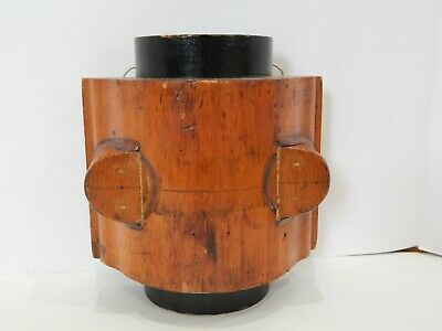 Antique Wood Industrial Foundry Factory Mold Steampunk Display Pillow Block