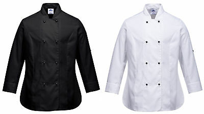 Portwest C837 Rachel Ladies Chef Jacket Long Sleeve Catering Kitchen Uniform