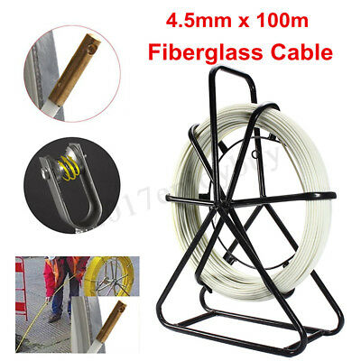 4.5mm 100m Fiberglass Wire Cable Fish Tape Running Rod Duct Puller Electric  ❤