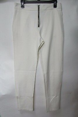 Estelle and  Finn Ivory Zip Off Straight Leg Pants Size 8 NWOT w Pockets
