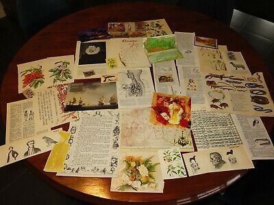 37pc ephemera vintage music theme book pages altered art, mixed media pk1