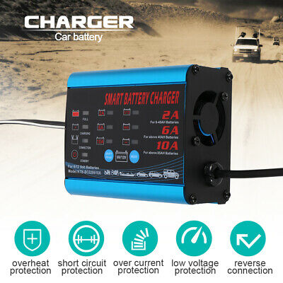 Car Battery Charger 6V & 12V Heavy Duty 2A 8A 12A with Trickle Charge 4-200AH