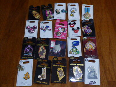 AUTHENTIC Disney Trading Pins Lot 25 No Duplicates New On Cards B
