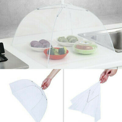 Large Pop-Up Mesh Screen Protect Food Cover Tent Dome Net Umbrella Picnic Covers