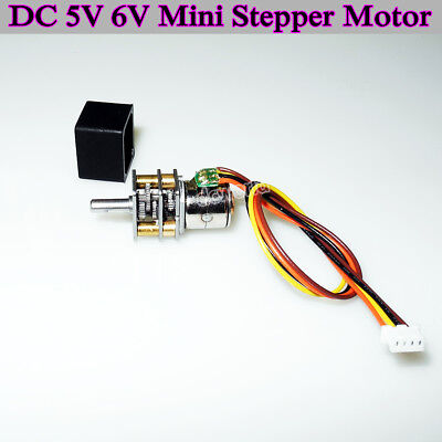 5V 6V10mm 2-phase 4-wire Mini Full Metal Gearbox Gear Stepper Motor DIY Robot UK