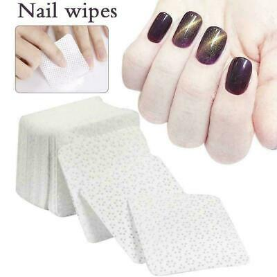 Nail Art Manicure Polish Remover Cleaner Wipe Lint Free Cotton Pads Paper 100pcs