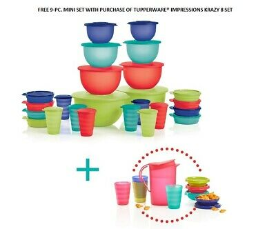Free 9-Pc. Mini Set With Purchase Of Tupperware® Impressions Krazy 8 Set