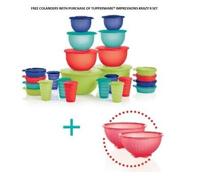 Free Colanders With Purchase Of Tupperware® Impressions Krazy 8 Set