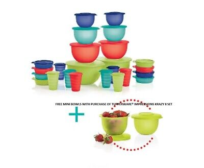 Free Mini Bowls With Purchase Of Tupperware® Impressions Krazy 8 Set