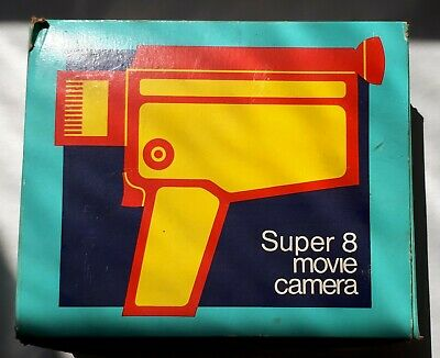 Vintage 1970s Super 8 Movie Camera. HALINA PS 300 RD. Instructions & Orig Box