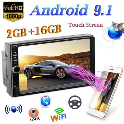 2Din 7in Touch Quad Core Android 8.1 GPS Navi RDS Car Stereo MP5 Player FM Radio