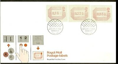 [A73_63] 1984 - Great Britain ATM FDC A1 (2) - 3  values