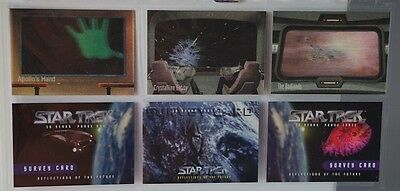 Star Trek The Original Series.skybox 1996 3 Moving Pictures & 3 Survey Cards